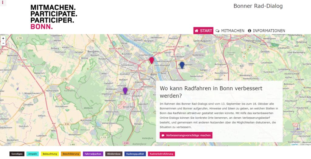 Startseite des Bonner Rad-Dialogs